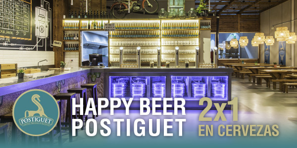 HAPPY BEER POSTIGUET 2X1